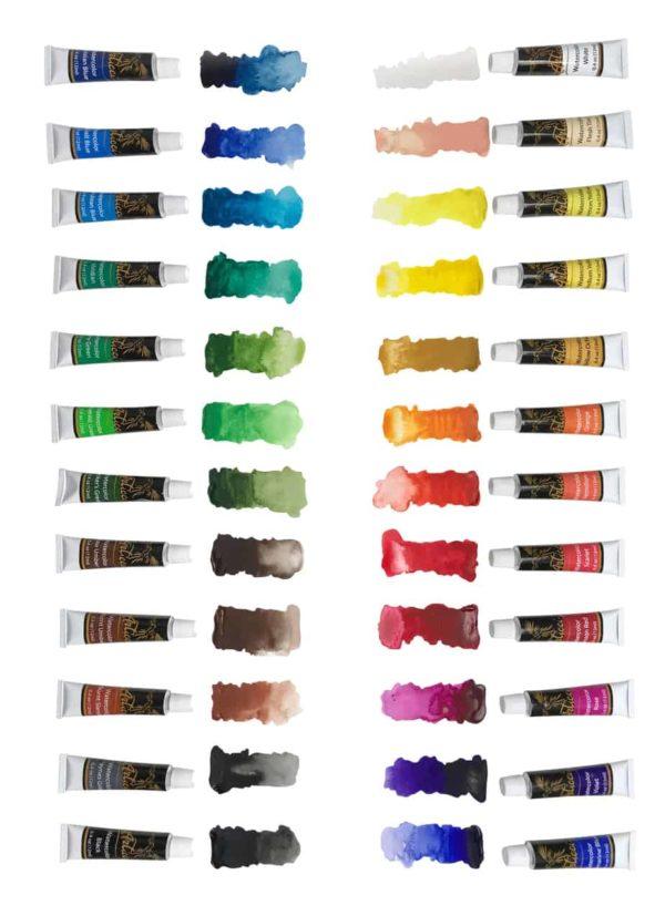 Articci Watercolour Paint Swatches