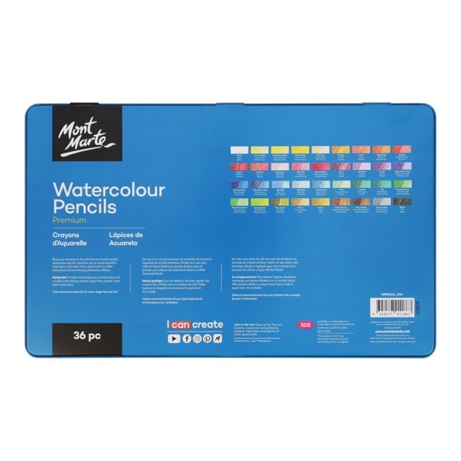 Watercolour Pencil Tin Set 36pc