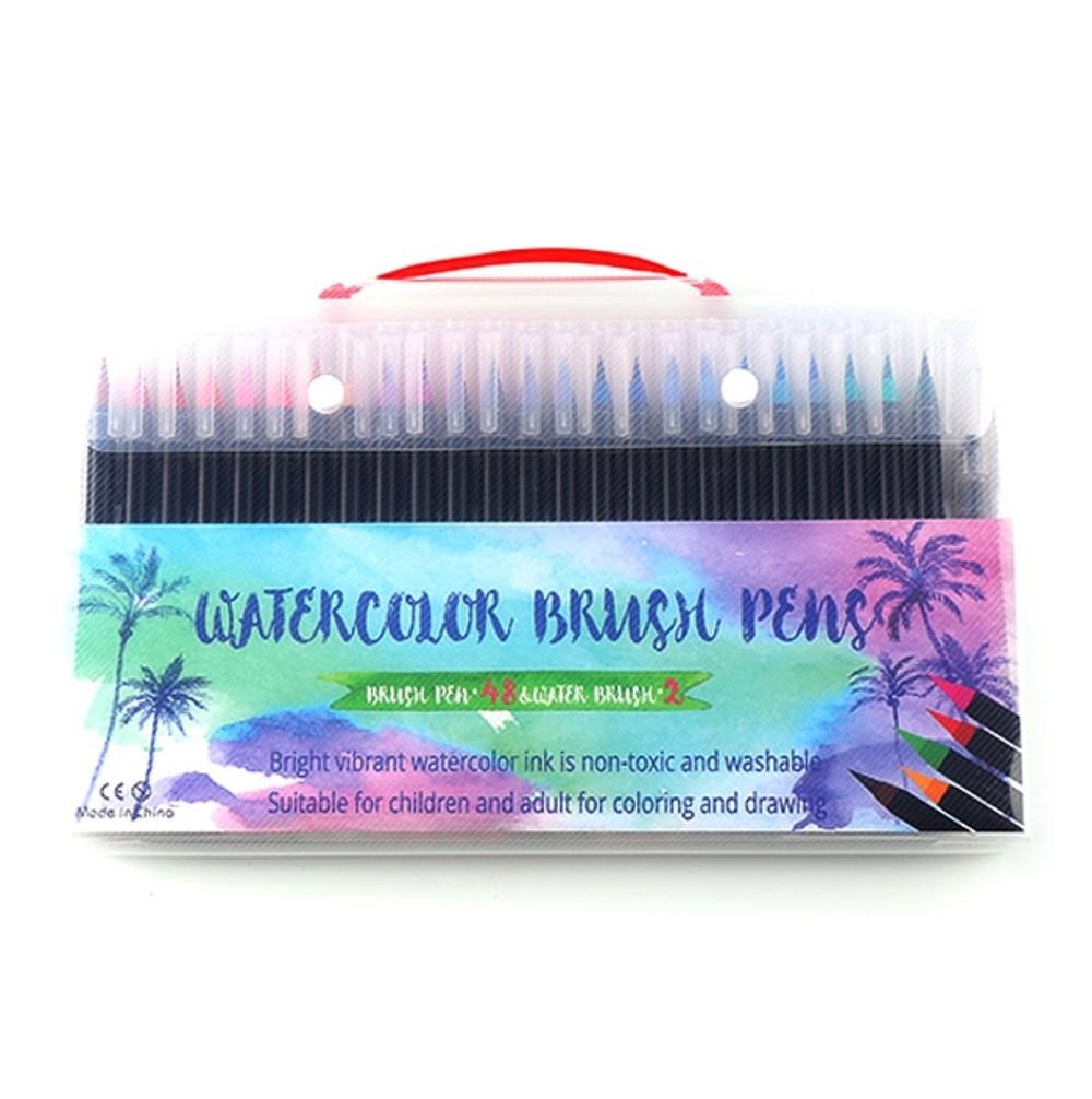 Watercolour Brush Pens Set 48