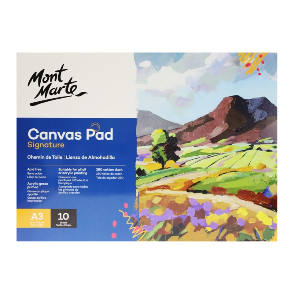 Canvas Pad 10 Sheet A3