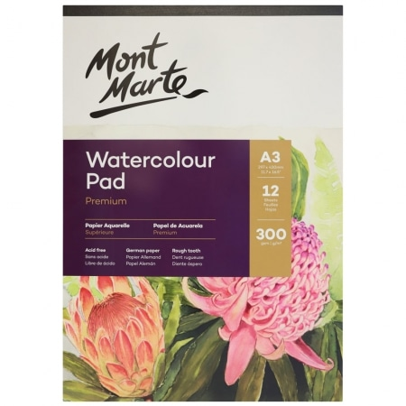 A3 Watercolour Pad 12 Sheets 300gsm