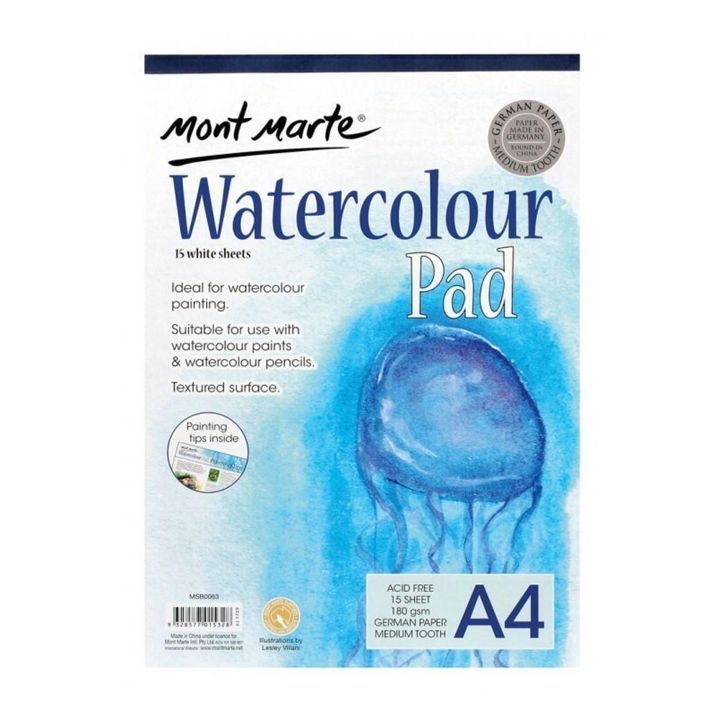 A4 Watercolour Pad 180gsm 15sheets