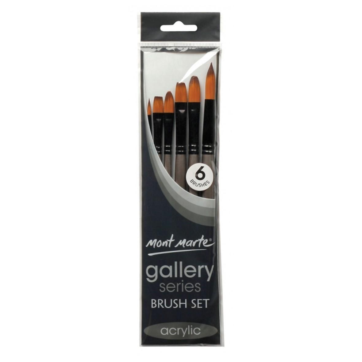 Gallery Series Brush Set Acrylic 6pce
