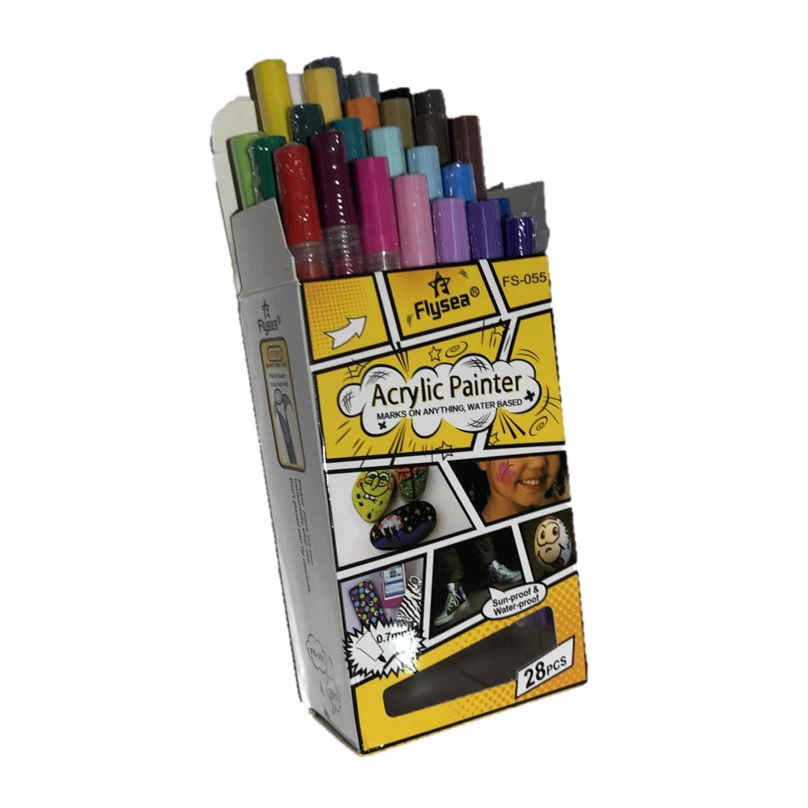 Acrylic Paint Markers Set 28 Fine Tip