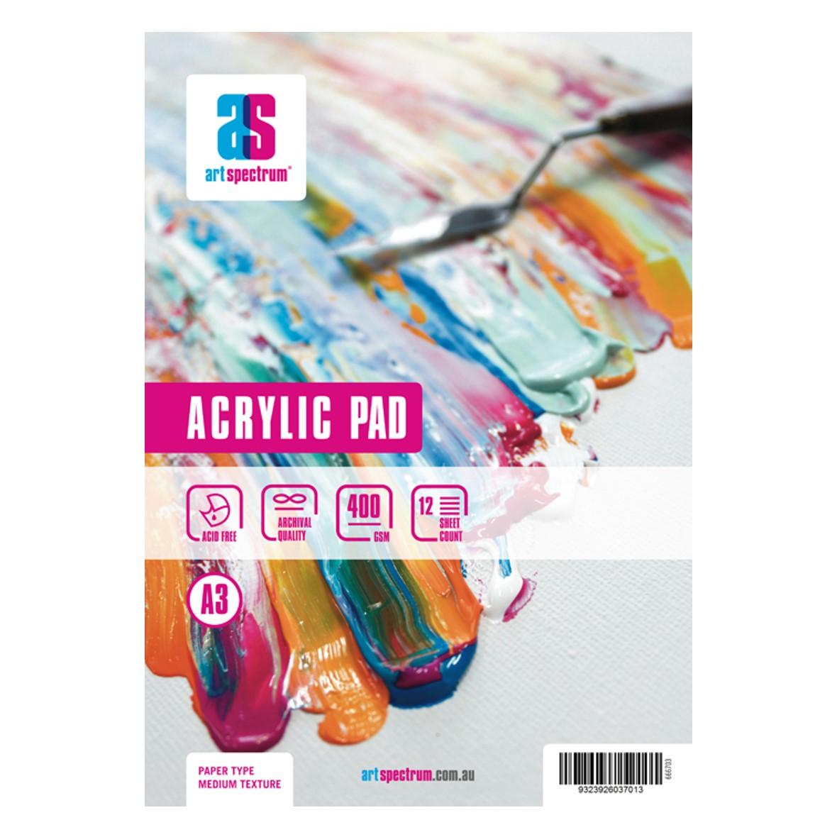 Art Spectrum Acrylic Pad A3 400gsm