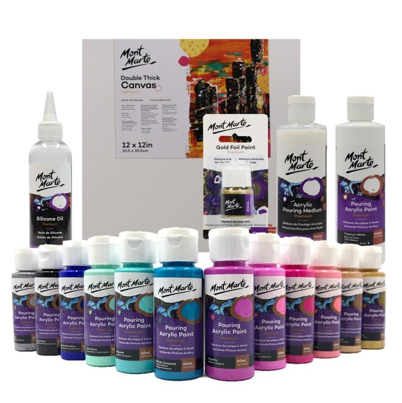 Acrylic Paint Pouring Kit