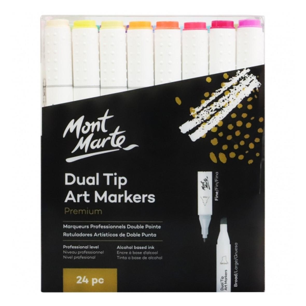 Premium Dual Tip Art Markers 24pc