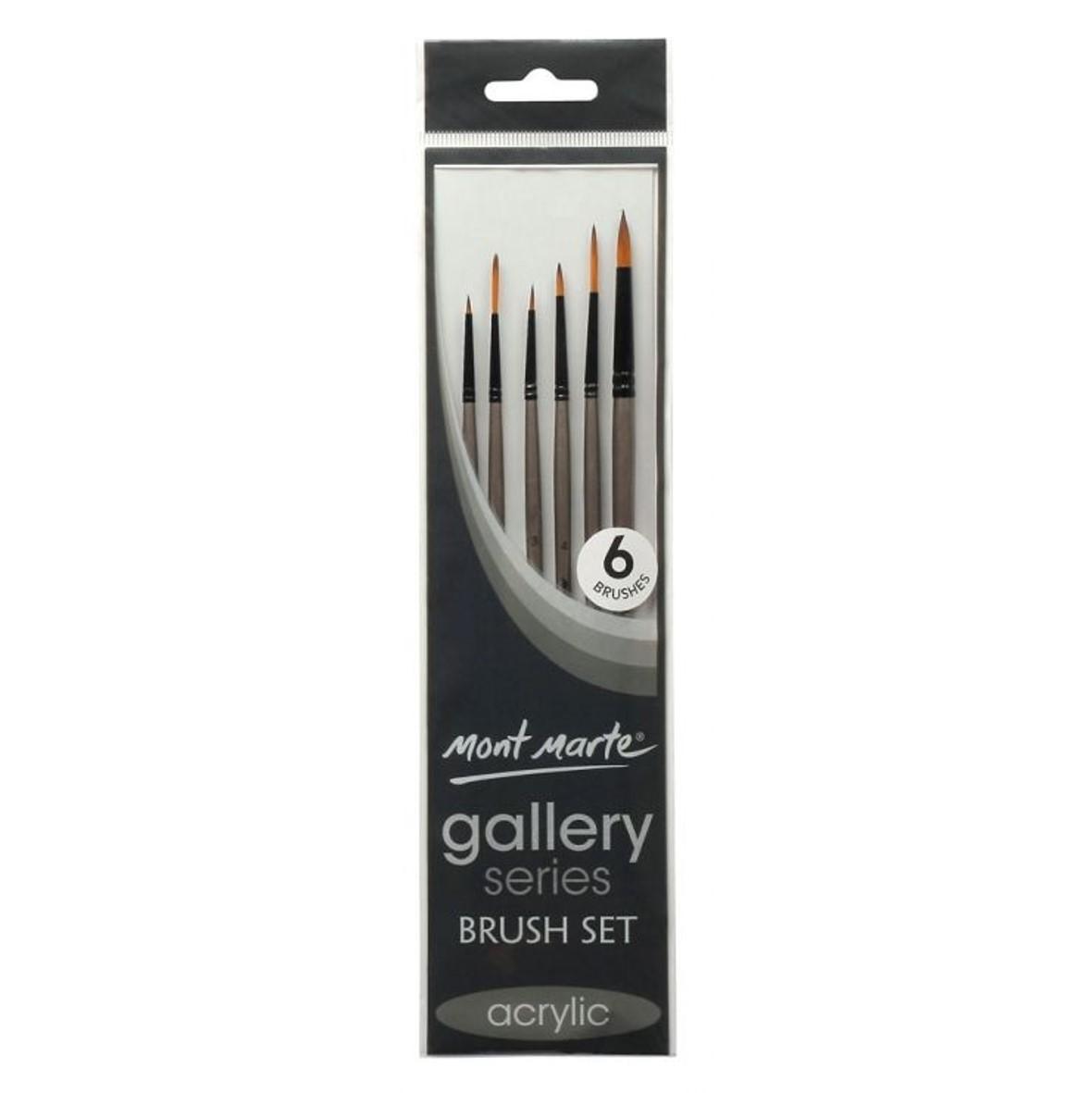 Fine Liner Paint Brush Set 6pc Gallery Series