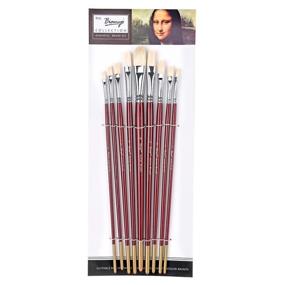 Filbert Bristle Brush Set 9pcs