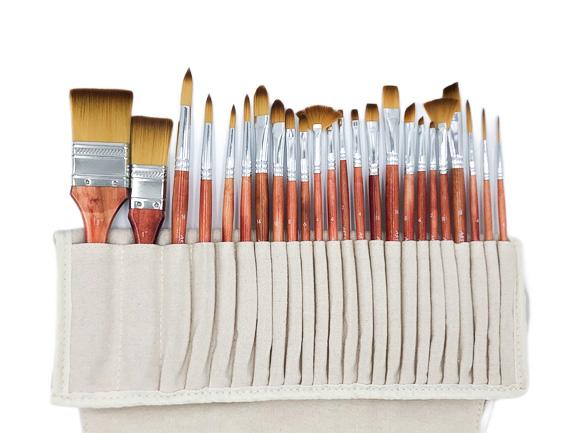 24pce Taklon Brush Set in Roll