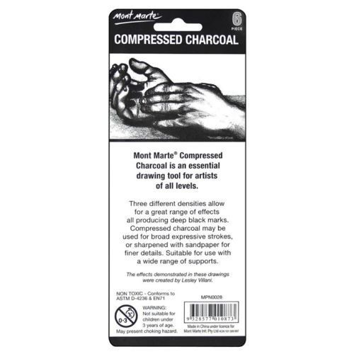 Compressed Charcoal 6pce