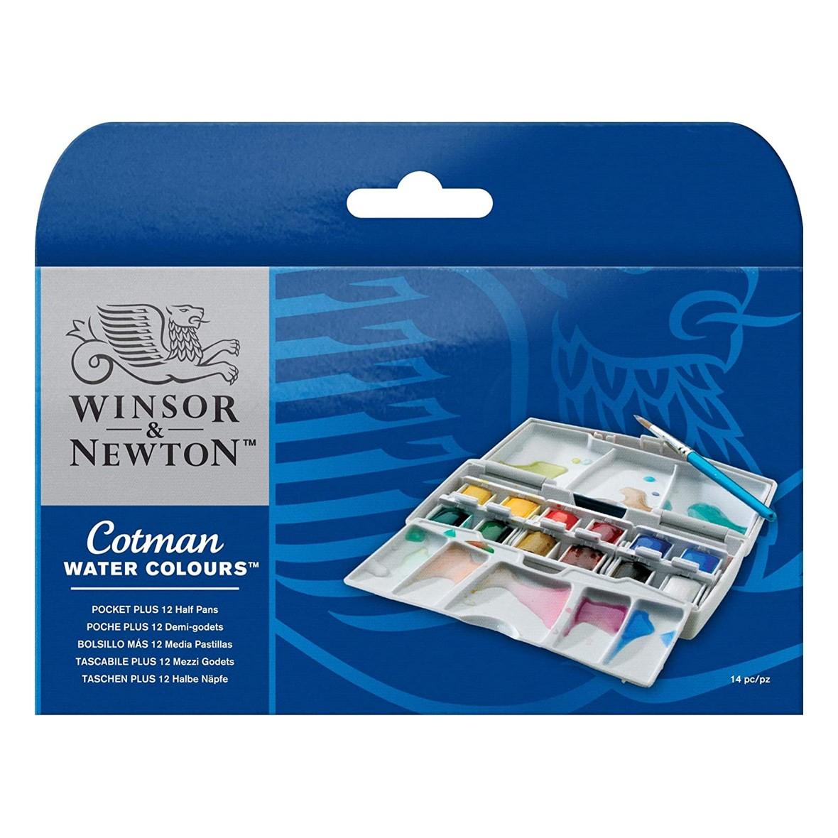 Cotman Watercolour Half Pan Pocket Plus
