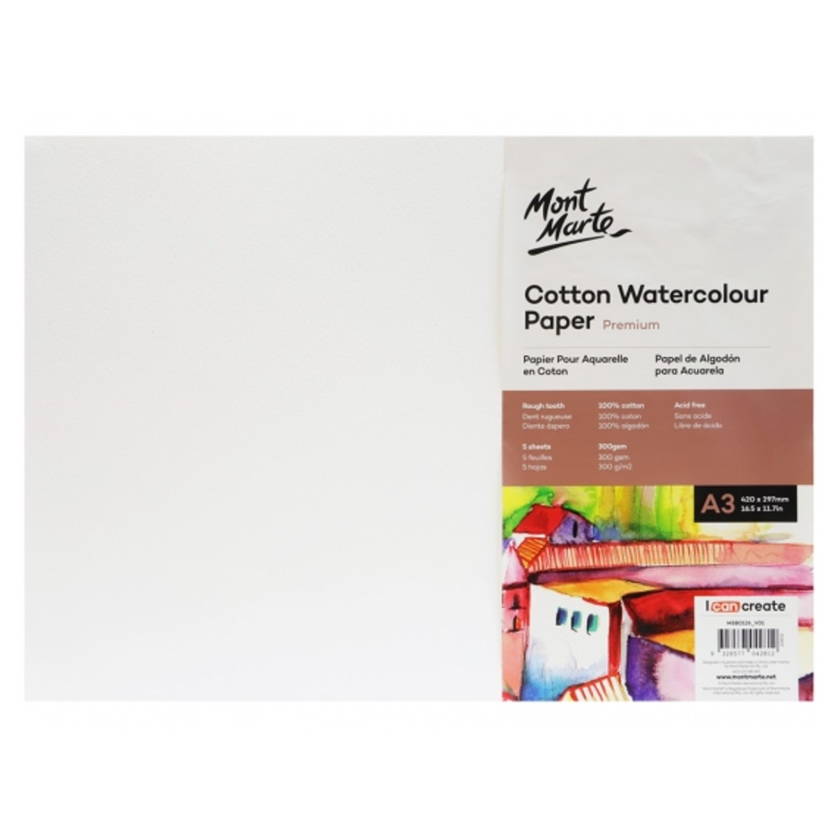 Premium Cotton Watercolour Paper 300gsm A3