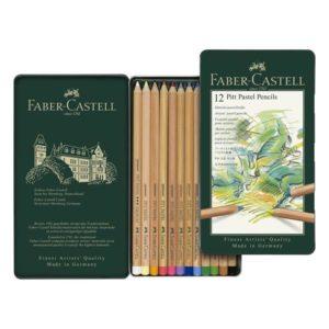Faber-Castell Pitt Pastel Pencil Tin of 12