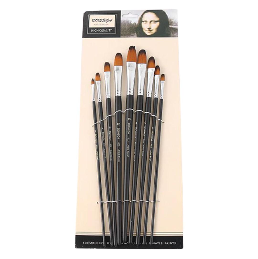 Long Handle Filbert Brush Set