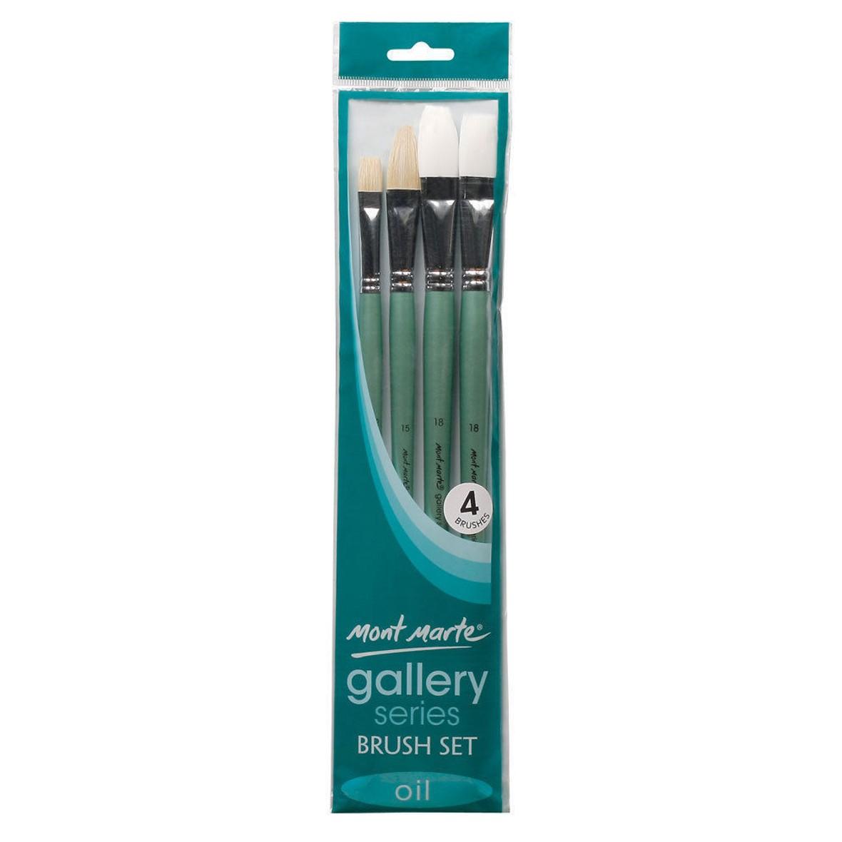 Gallery Oil Brush Set 4Pk