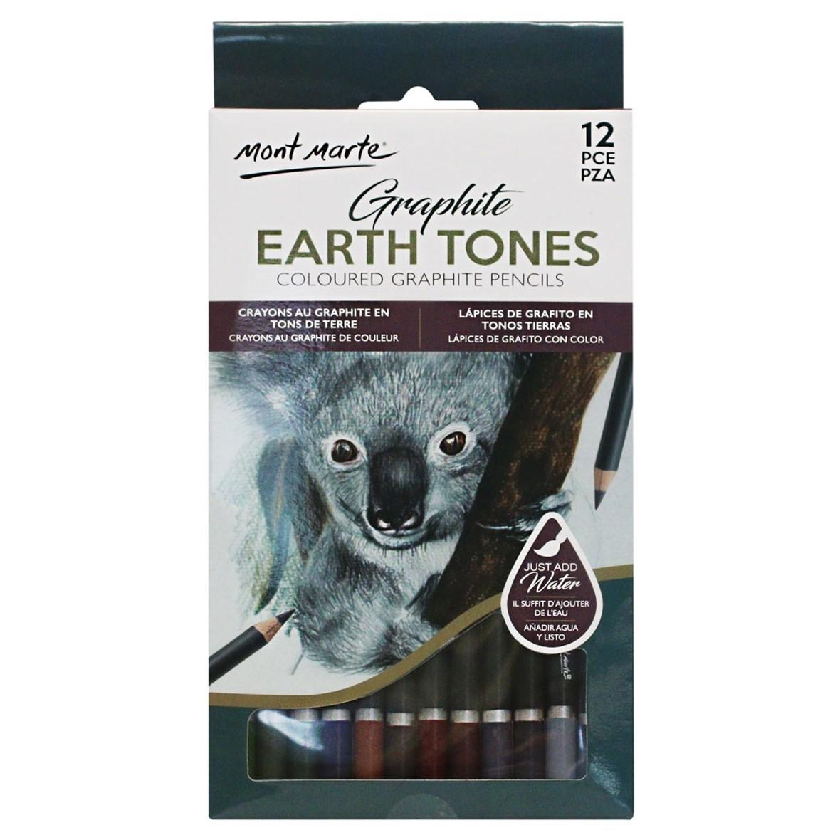 Earth Tones Graphite Pencils