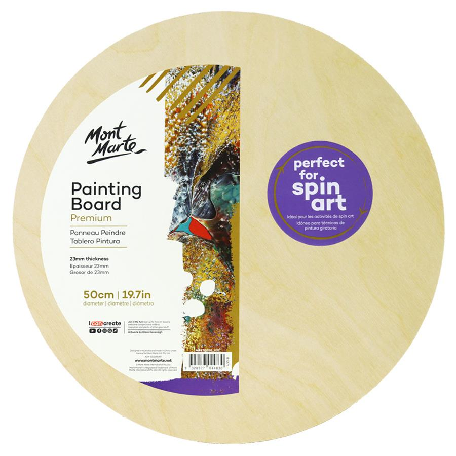 Premium Wooden Painting Board - Round 50cm