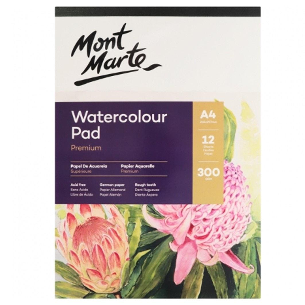 Watercolour Pad A4 300gsm 12 sheet