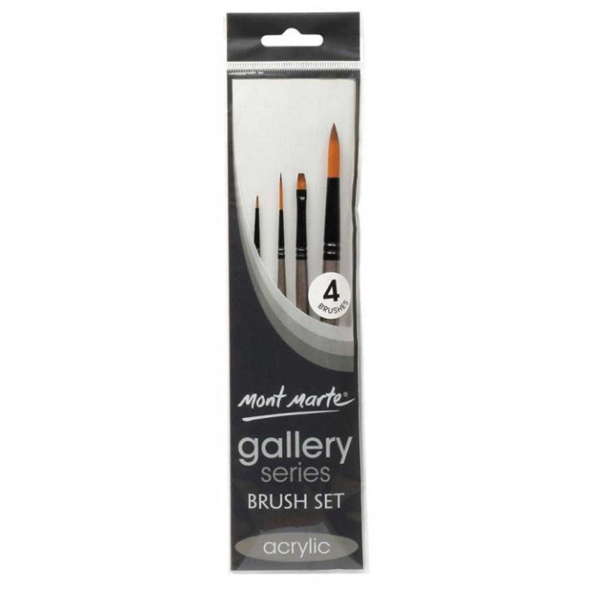 Gallery Series Acrylic Brush Set 4pce