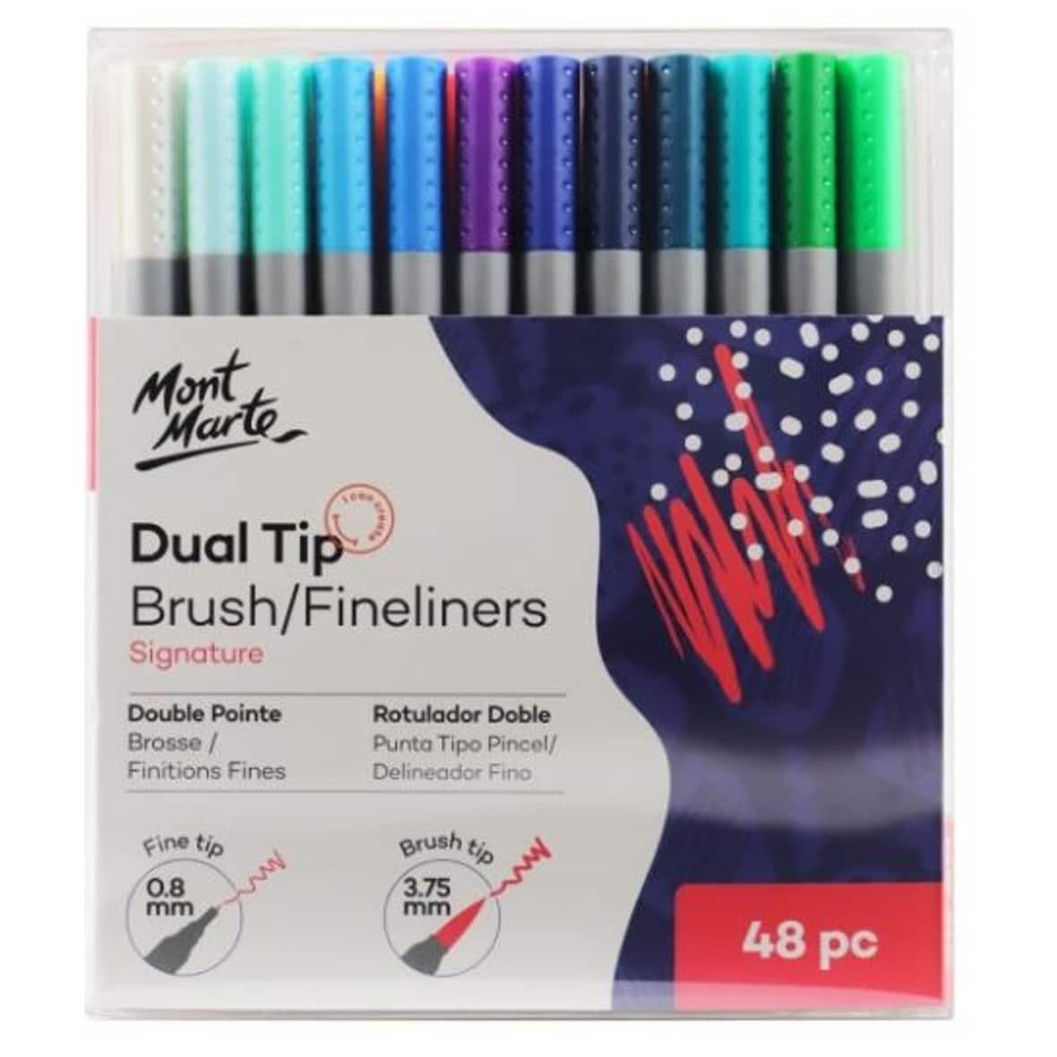 Signature Dual Tip Brush/Fineliners 48pc