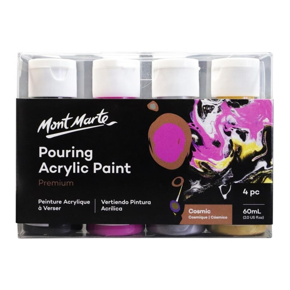 Pouring Acrylic Paint 60ml 4pc Set - Cosmic