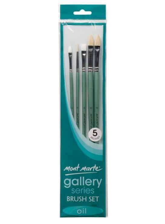 Oil Paint Brush Set - 5 pieces