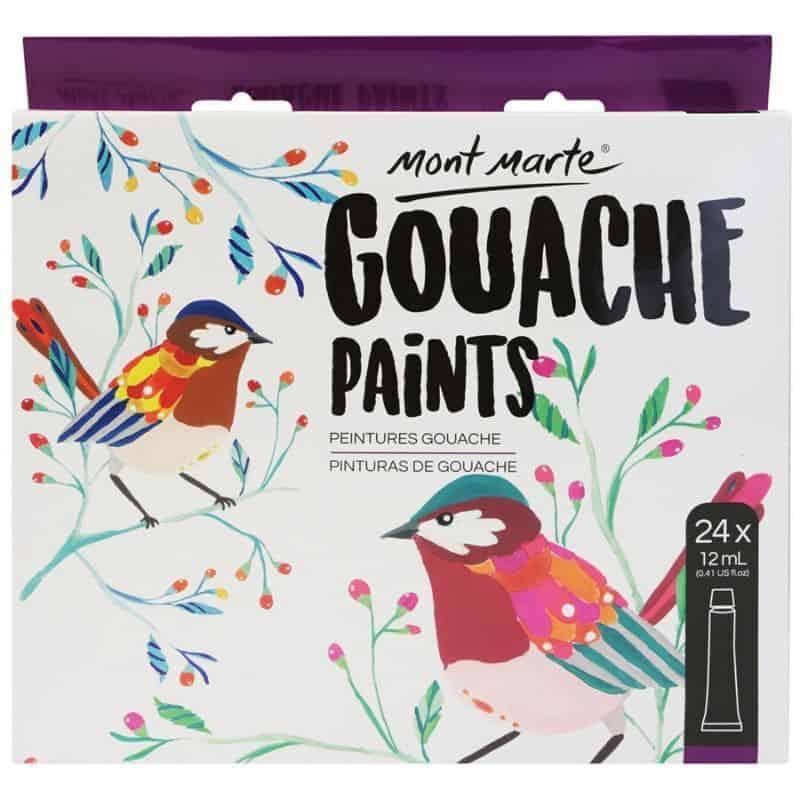 Gouache Paint Set 24 Colours