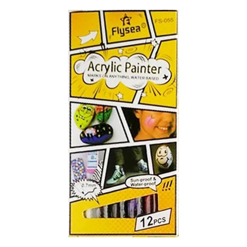 Acrylic Paint Markers Set 12 Fine Tip