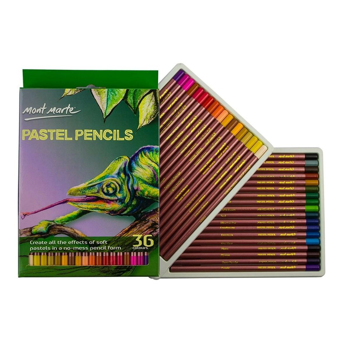 Mont Marte Pastel Pencils 36 colours