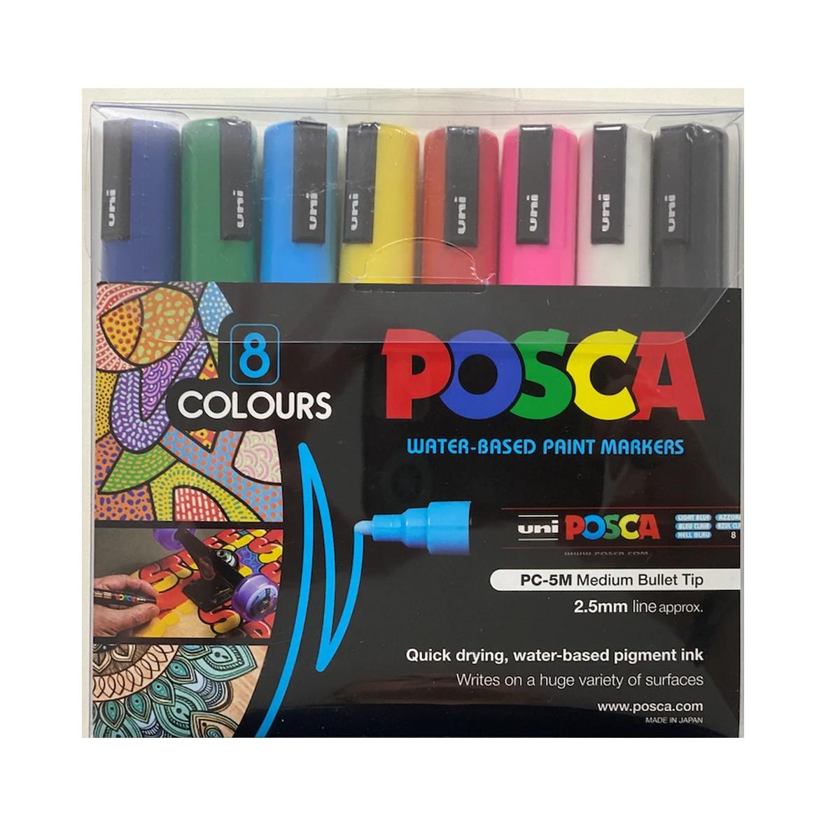 POSCA Marker Set 8 Colours Medium