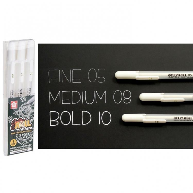 Sakura Gelly Roll White Pen Set