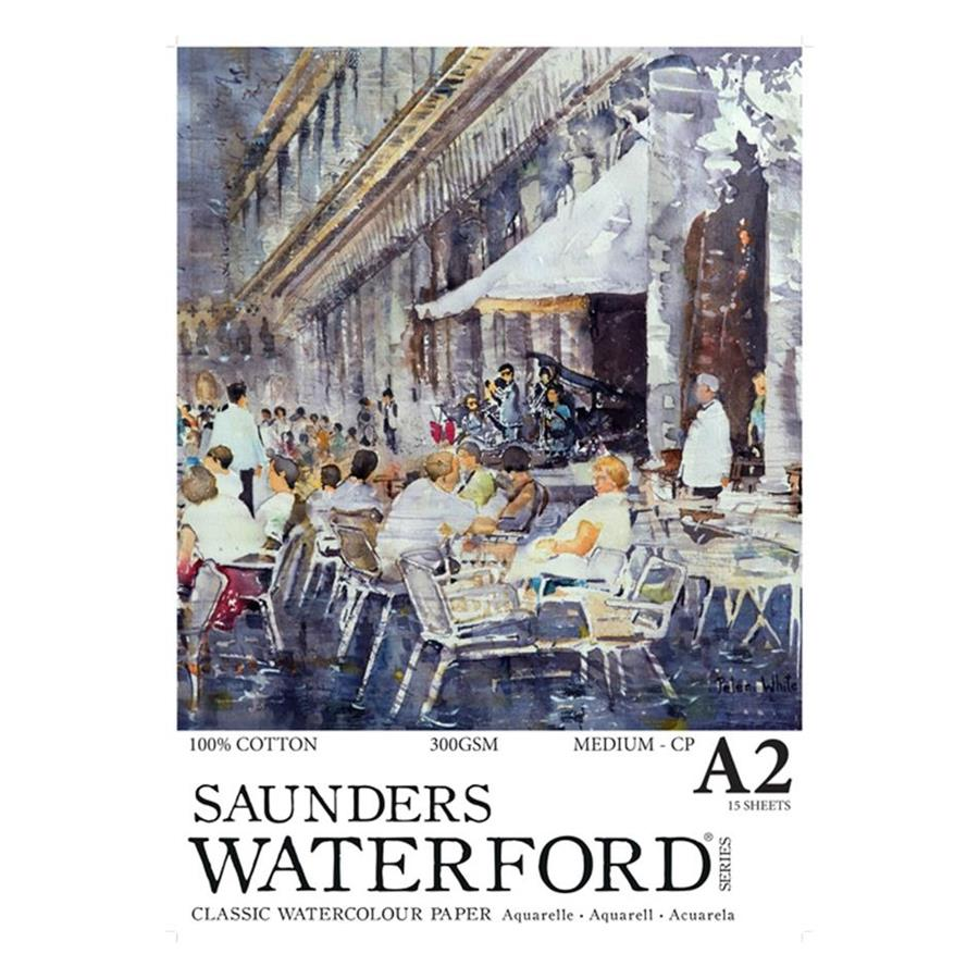 Saunders Waterford 300gsm Medium Cold Press Watercolour Pad