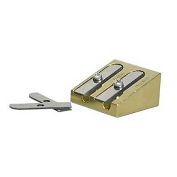 Bruynzeel Design Brass Double Hole Sharpener