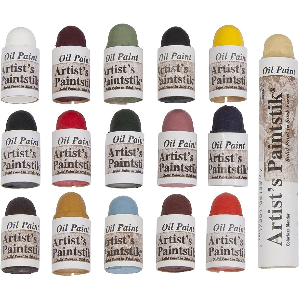 Mini Shiva Paintsticks Matte Assorted 16 pces