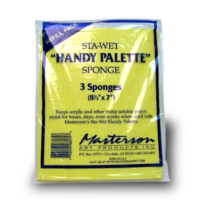 Sta-Wet Handy Palette Sponge Refills pk3