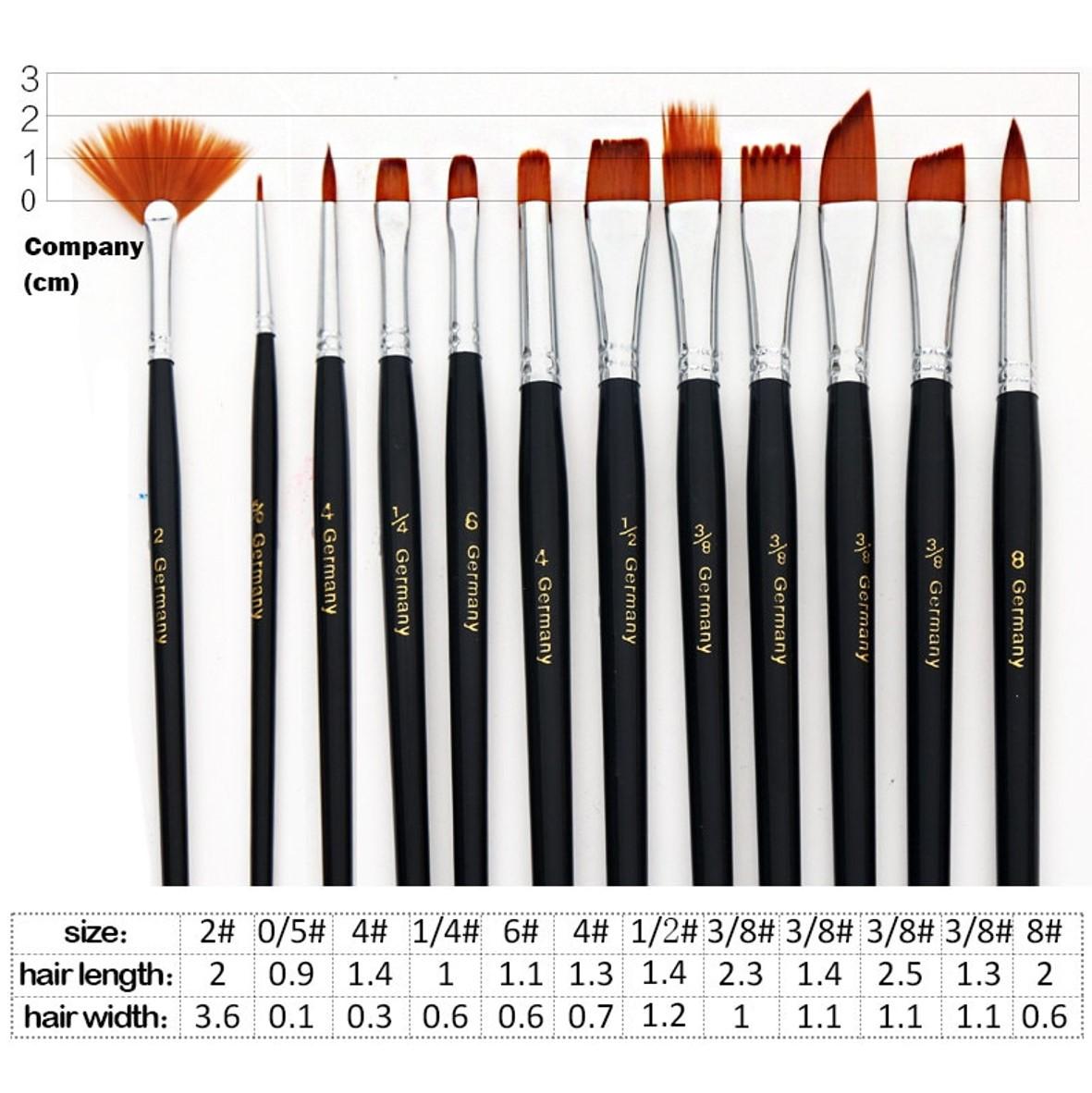 Artists Technique Brush Set 12pcs