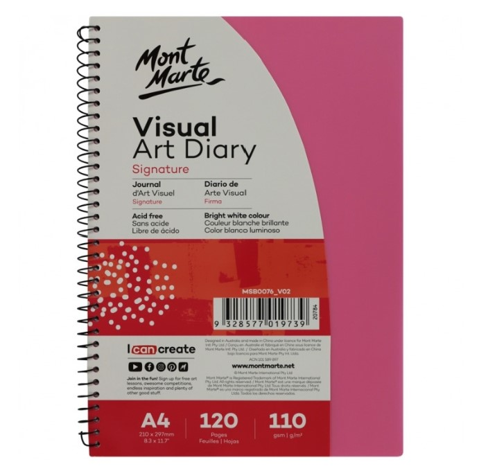 Visual Art Diary A4 120 pages