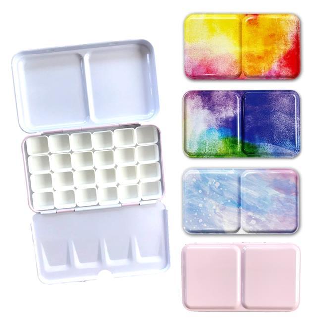 Travel Watercolour Tin Palette Box