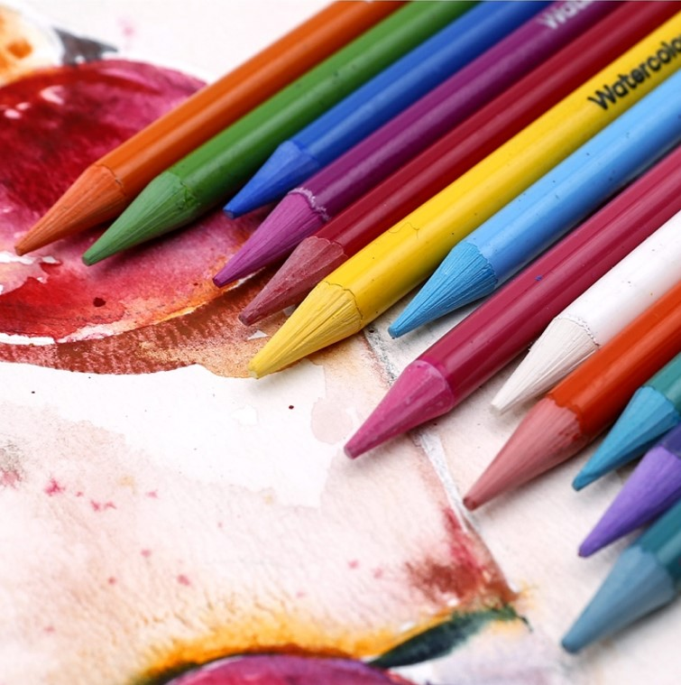Premium Woodless Watercolour Pencils 24pc