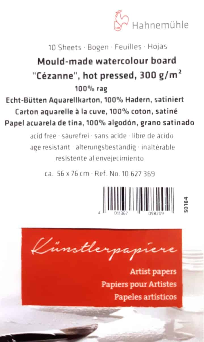 300gsm Hot Press Watercolour Paper - Cezanne