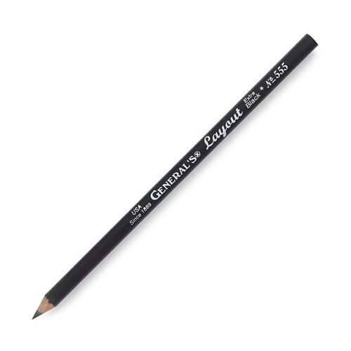 General's Layout Pencil Extra Black No. 555