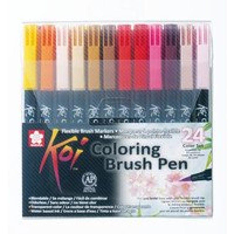 Koi Watercolour Brush Pen Set - 24 pack