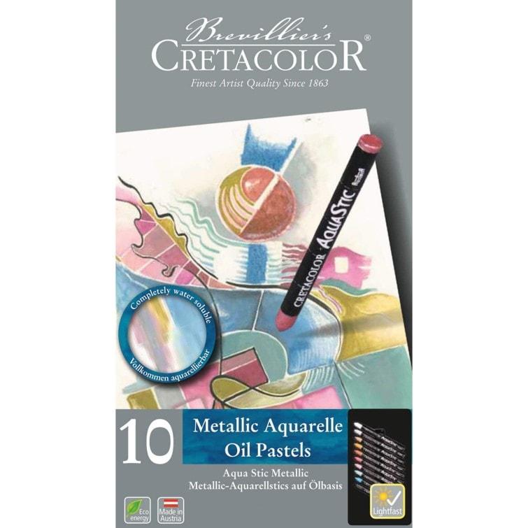 Aqua Stic Metallic Oil Pastels - 10 pack