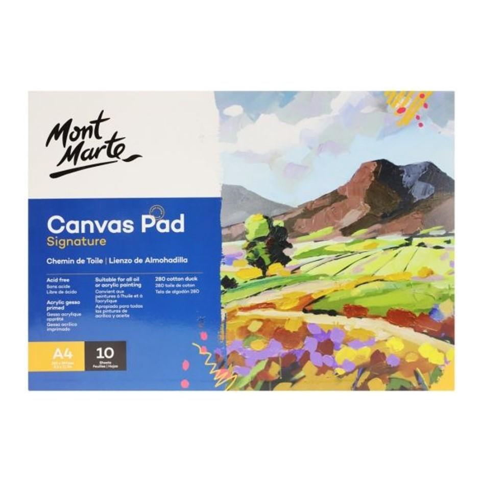 Canvas Pad 10 Sheet A4