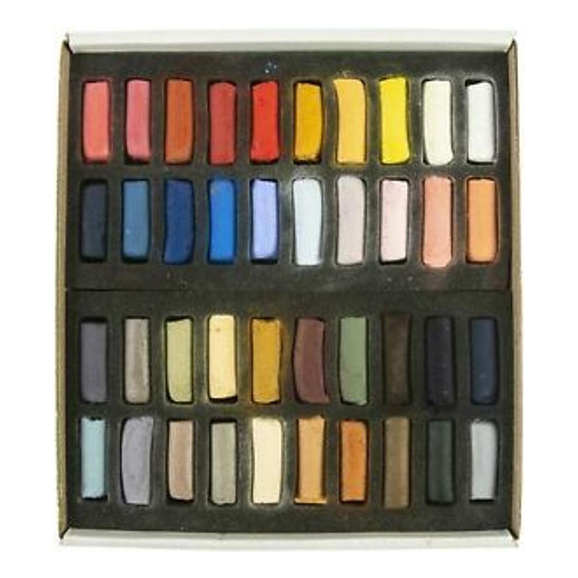 Sennelier 'Portrait' Extra Soft Half Pastels set of 40