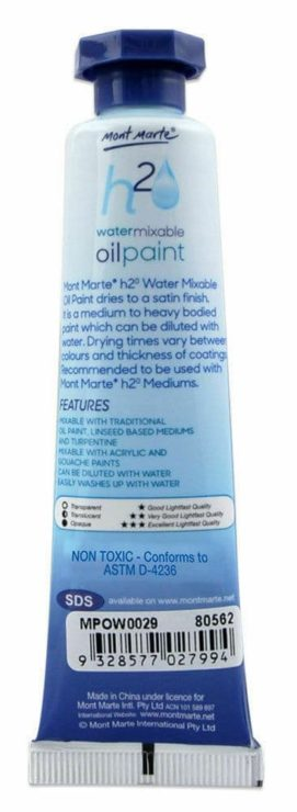 Water Mixable Oil Paint Tube 37ml - Mont Marte