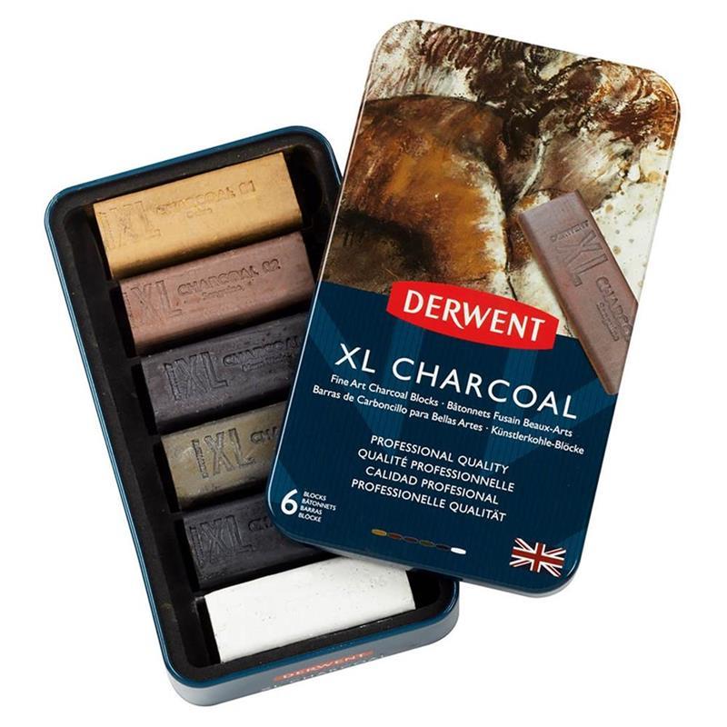 Derwent XL Charcoal Blocks set of 6