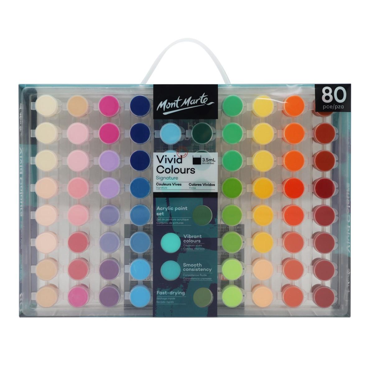 Vivid Colours Acrylic Paint Set 80pc