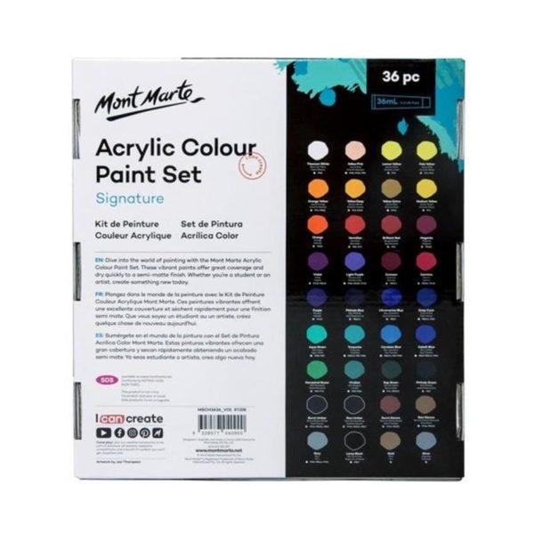 Acrylic Paint Set 36pc back